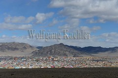 30095413 (wolfgangkaehler) Tags: city asian colorful asia mongolia centralasia mongolian colorfulhouses viewfromhill altaymountains ulgii altaimountains westernmongolia lgii altaymts
