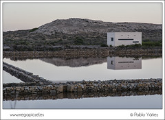 Salinas Calblanque II (P. Yez) Tags: ocean travel sunset sea espaa seascape reflection water sunrise atardecer mar canal spain rocks europa europe salinas murcia amanecer rocas calblanque regindemurcia