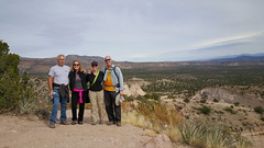 Stan, Pam, Laura & Fred atop the mesa at Tent Rocks NM