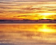 Foggy Sunrise (DASEye) Tags: lake reflection fog clouds sunrise reflections dawn cloudy foggy reflected davidadamson daseye