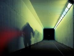 HALLOWEEN Guisers (kenny barker) Tags: light art night dark lumix scotland tunnel motionblur grangemouth falkirk multiexposure panasonicgf1 kennybarker