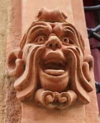 Mask (Maison de l'Alchimiste) Tags: sculpture art architecture alsace spirituel diabolique colmar68000 sciencesoccultes sciencesdivinatoires mystiquerhenane maisondestêtes1609