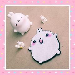 BROCHE MOLANG (Celenia★) Tags: brooch felt kawaii brochedefieltro molang