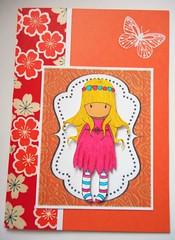 APC92 (tengds) Tags: flowers red orange white yellow butterfly card handcolored brushpen papercraft japanesepaper washi handmadecard chiyogami yuzenwashi gorjuss tengds allpurposecard koicoloringbrushpen