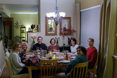 Dinner Time (Dominic Sagar) Tags: thanksgiving family friends food lamp dinner table candle wine