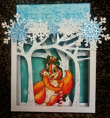 Let it snow (CraftyBev) Tags: trees glitter snowflakes 3d blogchallenge