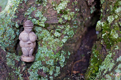 Mother-goddess (rcipfw) Tags: tree nature statue moss venus goddess mother offering reverence figurine