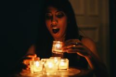 Oups (Ennev) Tags: portrait fall 50mm candles pentax bokeh montreal f14 candlelight mileend k5 raji pentaxk5 k5ii pentaxk5ii rajicambow