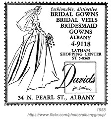 1958 bridal david's (albany group archive) Tags: albany ny yellow pages ad 1958 bridal gown dress veil latham shopping center north pearl street oldalbany history 1950s old vintage photos photographs historical historic