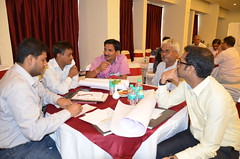 Group dynamics during the workshop (International Livestock Research Institute) Tags: india workshop southasia bihar smallholder crp37 dairyvaluechain