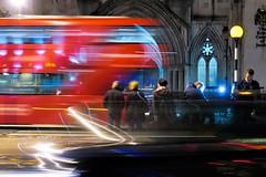 London Night Impressions (Matthias Harbers) Tags: city uk travel light england urban bus london night photoshop canon 1 evening moving traffic unitedkingdom powershot elements transportation labs dxo topaz 1inch gseries flickraward g3x