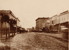 Dewitt Street Looking South with Wagons