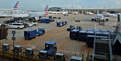 Dallas Ft. Worth (A Lovely Autumn Day!!!) Tags: theflickrlounge wk39 airport planes tarmac outside takenthroughthewindow torontotrip storage