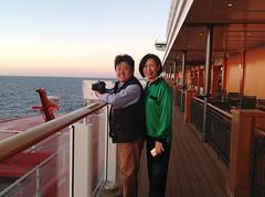 Sunset on The Waterfront (terraxplorer2000) Tags: cruise cruiseship norwegianbreakaway family
