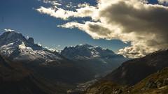 Chamonix Mont-Blanc late afternoon... Fin d'aprs midi  Chamonix ! (Claude Jenkins) Tags: chamonixmontblanc montblanc aiguilleverte lesdrus aiguilledesgrandsmontets automne fall nuages clouds letour montroc