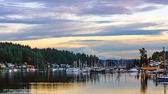 Gig Harbor (rebeccabphotos.com) Tags: washington washingtonphotography fall nature outdoors naturelover sunset photography photooftheday rebeccabphotos pnw pacific northwest gig harbor waterfront mountain rainier dusk boats reflection