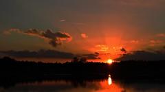Sunset with sunrays