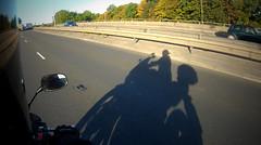 Shadow Of A Man (Andy Tee) Tags: shadow photography sun sunrise honda cbf cbf600 cbf600sa commute motorbike mototcycle ion air pro action camera sport artistic