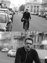 [La Mia Citt][Pedala] (Urca) Tags: milano italia 2016 bicicletta pedalare ciclista ritrattostradale portrait dittico nikondigitale mir bike bicycle biancoenero blackandwhite bn bw 895100