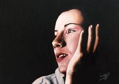 Daydreaming (da's art) Tags: daydreaming pablo derwent lyra luminance polychromos selfportrait portrait coloredpencils artwork drawing traditionalart