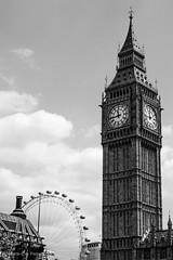 ( scarey photography ) Tags: blackandwhite monochrome outdoor architecture bigben clocktower tower london greatbritain architectureuk