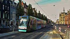 Kleurrijk Amsterdam 3 (Peter ( phonepics only) Eijkman) Tags: amsterdam city combino gvb tram transport tramtracks trams rail rails advertise strassenbahn streetcars nederland netherlands nederlandse noordholland holland