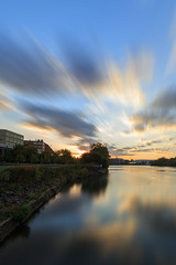 Moving Sunrise (Mark Alan Andre) Tags: washingtondc washington dc sunrise long exposure clouds river water reflection