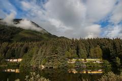 Mountainous Reflections (sullivan1985) Tags: alaska alaskarailroad ak portage sewardhighway 120s arr3005 arr3007 arr3001 freight freighttrain reflection mountains clouds southbound train railroad railway emd gp402 geeps