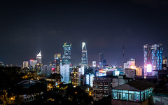 Saigon Skyline (_gate_) Tags: saigon ho chi minh city vietnam skyline zen rooftop bar fusion hotels urban cityscape nikon d750 sigma 35mm art 14 night photography street nacht vietcon vietcom national bank bitexco tower