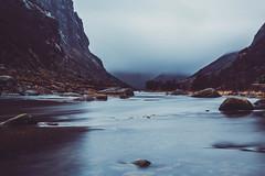 Stand like a mountain, flow like a river (Ferdinand Bart Alst - Pixel Your Soul Photography) Tags: mountains river nature landscape mood fog clouds norway winter 50mm longexposure le nikon sirui leefilter bigstopper