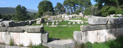 Temple of Hypnos at Epidauros sanctuary of Asclepios