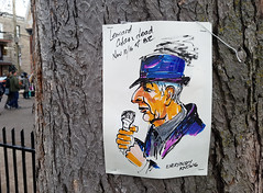 R.I.P. Leonard Cohen (1934-2016) (Exile on Ontario St) Tags: leonardcohen memorial montreal death leonard cohen rip tribute hommage dies dead dcs mort passing singer poet writer montrealer vallires saintdominique stdominique quebec parcduportugal parc portugal park canada qubec montral ripleonardcohen hommages zen centre center plateau plateaumontroyal tributes dessin portrait songwriter song songs music canadian mourn mourning makeshift flowers messages notes illustration art drawing picture tree arbre everybodyknows everybody knows