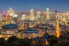 Montreal [EXPLORED] (Stef. Broos) Tags: montreal downtown mont royal city night lights