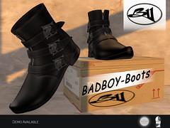 BADBOY BOOTS (Ðσɱ ƁĿΛƇҚ SŢΛR (InSl)) Tags: bw badboy boots men homme male black white cater chaussures timberlan man dom cat tiber land securité shoes timber hombre sapatos