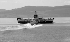 Scotland West Highlands Argyll car ferry Loch Riddon and pilot launch Mount Stuart a near miss 29 May 2016 by Anne MacKay (Anne MacKay images of interest & wonder) Tags: scotland west highlands argyll caledonian macbrayne car ferry loch riddon pilot launch mount stuart monochrome blackandwhite xs1 29 may 2016 picture by anne mackay