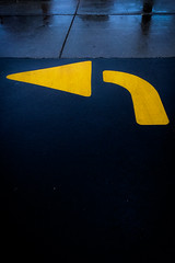 (323/366) Drizzle Arrow (CarusoPhoto) Tags: drizzle rain arrow yellow black pavement parking lot overcast beautiful light john caruso carusophoto photo day project 365 366 contrast iphone 7 plus