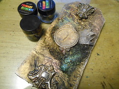 Time to Shine (LynzCraftz) Tags: polymerclay pendant resin art acrylicpaint oneofakind handmade