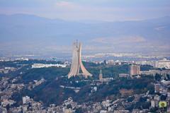 Monument au martyr (Maqam Echahid) (Ath Salem) Tags: algrie algeria argelia alger algiers argel afrique nord africa north tourism citytrip mer mditerrane mediterranean sea baie bay         maqam echahid chahid mmorial monument martyr memorial