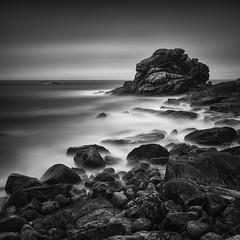 Monolith (Jaques10000) Tags: nikon d750 seascape brittany finistère longexposure monochrome blackwhite monolith