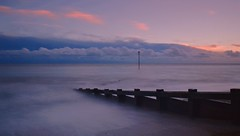 Storm on the Horizon (hall1705) Tags: stormonthehorizon westsussex sea seascape shore seaside groyne longexposure stormy clouds outdoor felpham dusk twilight d3200 beacheslandscapes