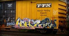 holtz (timetomakethepasta) Tags: pomo kmf freight train graffiti art boxcar tbox ttx boes yat moniker benching new york selkirk photography holtz