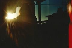 Vivo di ricordi sbiaditi (Elisabetta Pelucchi) Tags: sunset sun light shadows contrast dark sky ray amazing freedom free crete malia maliatim dinner thanks friends summer memories olympus kodak analogic analog analogico