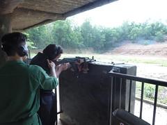 Tourist with an AK 47 (Carlton Browne) Tags: vietnam saigon tunnels shooting gun ak 47