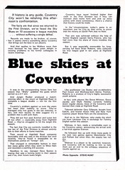 Nottingham Forest vs Coventry City - 1982 - Page 7 (The Sky Strikers) Tags: nottingham forest coventry city football league division one ground official match day programme 40p