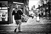 Rubbish Removers (h_cowell) Tags: rubbish removal street streetphotography mono monochrome silverefex panasonic gx7 macclesfield cheshire candid people light dark noir blackandwhite