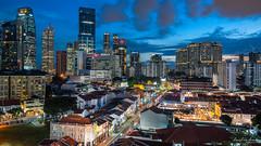 Chinatown (Leslie Hui) Tags: singapore bluehour chinatown cityscape city
