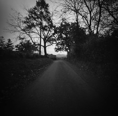 down a country lane (Christopher M Hight) Tags: pinhole panf50 zero 2000 120 film ilford