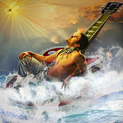 St. Ephrem (jaci XIII) Tags: sea sky man mar guitar dove guitarra céu shore homem espiritosanto pomba violão holyspirit ephrem santoefrém