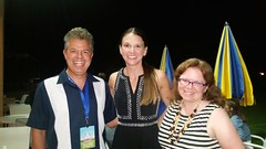 Hanging Out With Sutton Foster After The Concert (Joe Shlabotnik) Tags: cameraphone peter sue suttonfoster faved 2015 wstc galaxys5 august2015