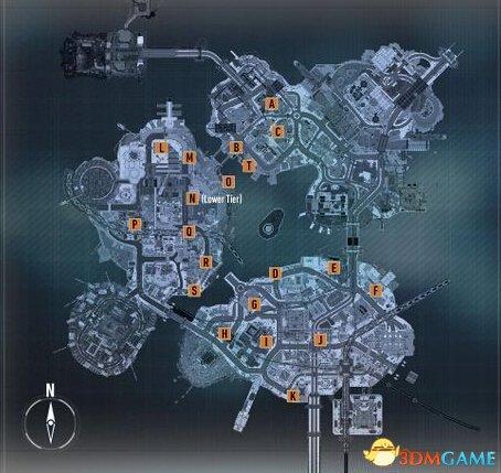 蝙蝠俠:阿卡漢騎士 支線任務位置檢查點坐標